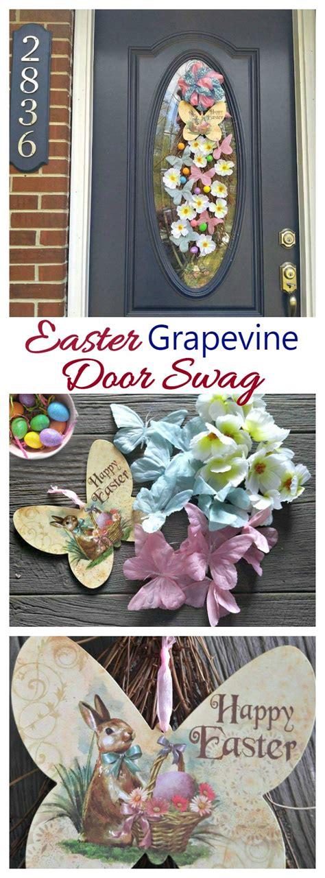 easter grapevine door swag butterflies bunnies  eggs