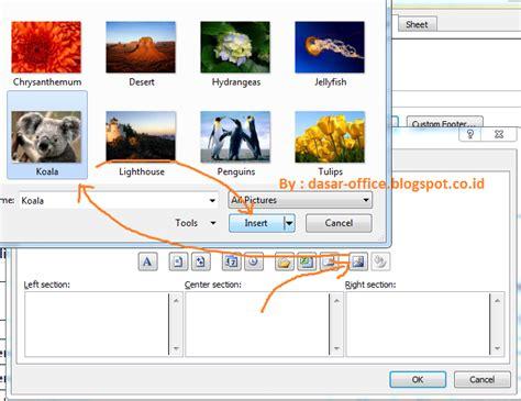cara membuat watermark page di excel cara membuat gambar transparan watermark di excel