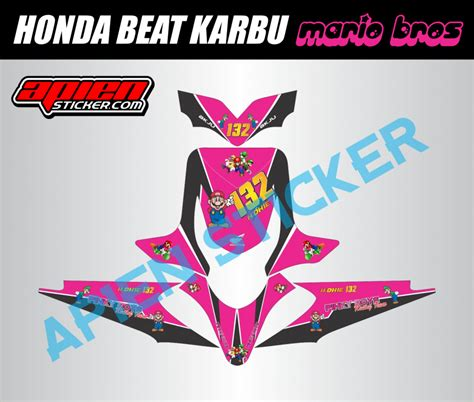 Sticker Striping Motor Stiker Honda Vario Fi 217 Biru Spec A striping motor beat karbu mario bros apien sticker