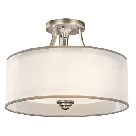 flush mount kitchen ceiling light fixtures kichler 42386ap semi flush ceiling fixture