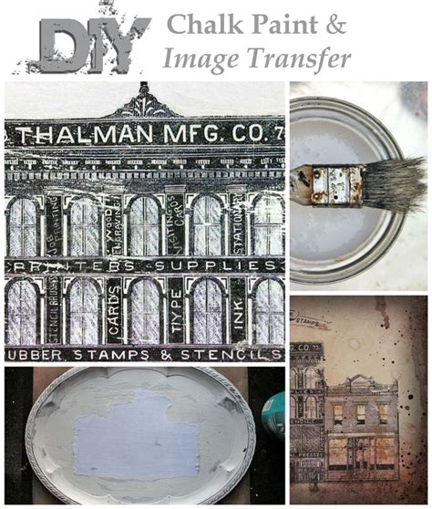 chalk paint transfers diy chalk paint and image transfer thicketworks