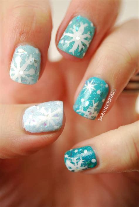snowflake nail designs    winter fashionsycom