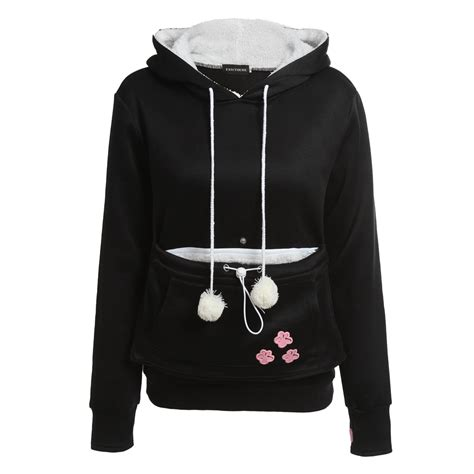 hoodie with pouch cat hoodies with cuddle pouch pet hoodies for casual kangaroo pullovers