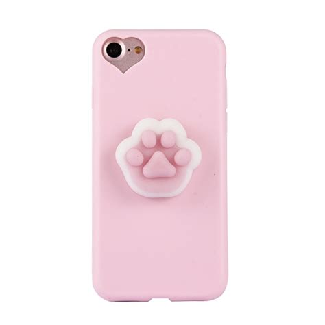 Remax 3d Relief Protective For Iphone 6s Plu 6jd59h Model 3 for iphone 6 plus 6s plus 3d paw print pattern squeeze relief squishy dropproof protective