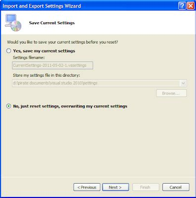 reset visual studio to factory settings how to solve it workday how to reset the visual studio