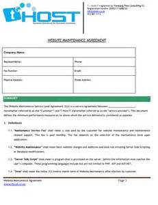web development service level agreement template website service level agreement pdf