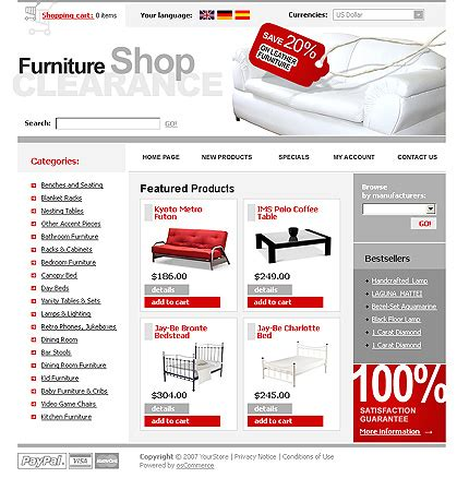 os commerce templates furniture oscommerce template 13119