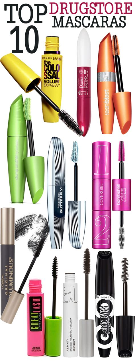 7 Great Mascaras For by Top 10 Drugstore Mascaras Beautiful Makeup Search