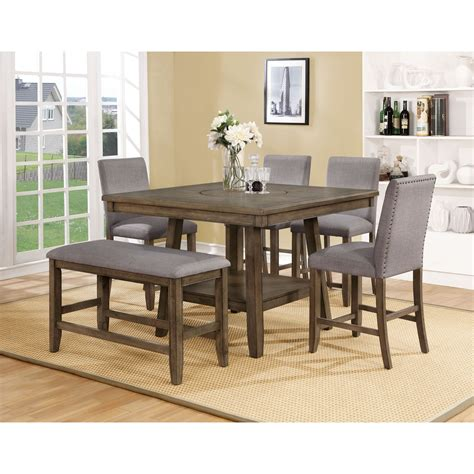 crown 4 counter height table set crown manning casual counter height table set royal