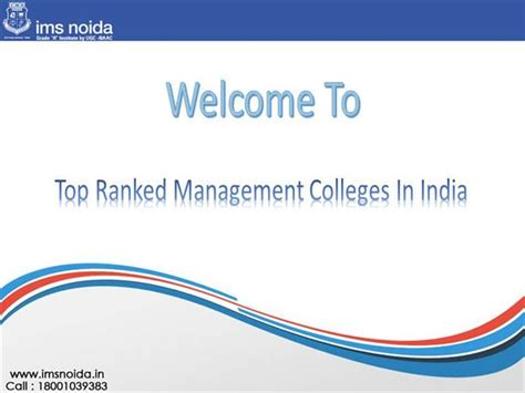 Best 100 Mba Colleges In India by Top Ranked Management Colleges In India Authorstream
