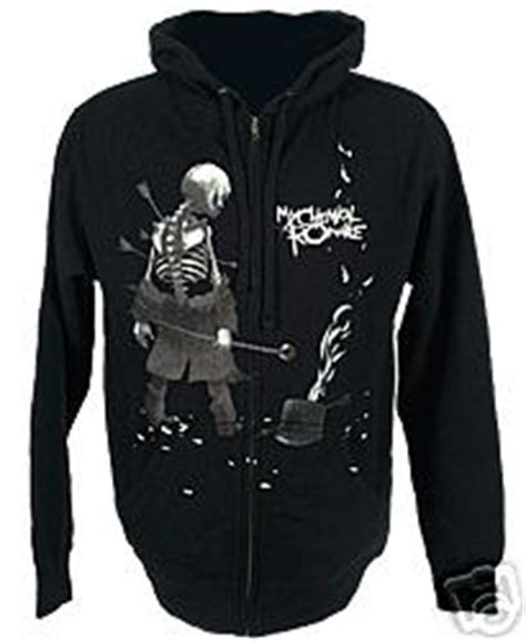 Hoodie Mcr My Chemical Logo 12 popsike brand new my chemical hoodie black parade auction details