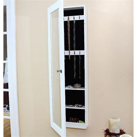 wall mount jewelry armoire white pebble beach wall mount jewelry armoire high gloss white