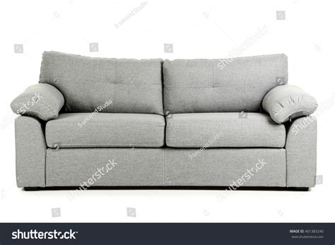 white and grey sofa grey sofa isolated on white background stock photo