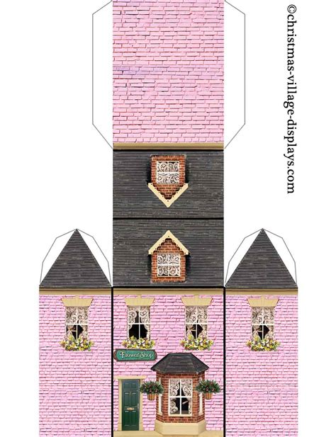 printable christmas village printable model card houses christmas village displays
