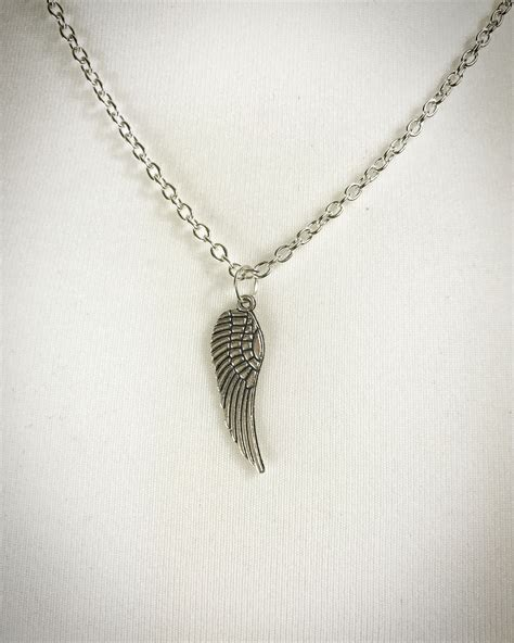 Wing Necklace wing necklace silver plated wisteria