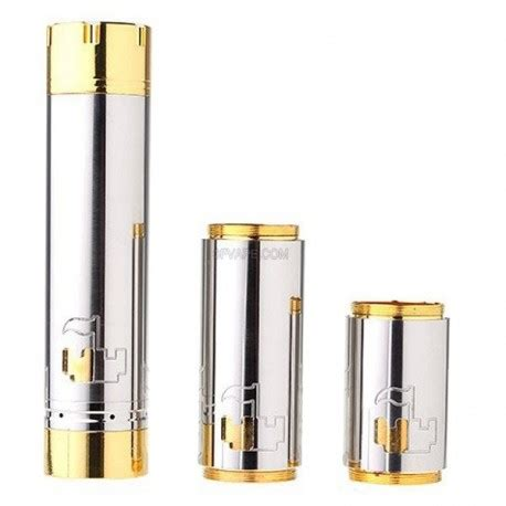 Castle Styled Mechanical Mod Set Stainless Steel Brass castle style mechanical mod set silver golden stainless steel brass 1 x 18650