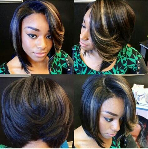 illusion bob hair cuts 17 best images about sew in bob style with illusion part