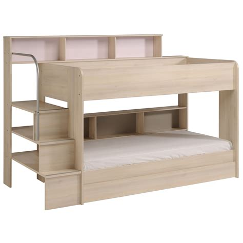 parisot bunk bed parisot bibop bunk bed in acacia rainbow wood