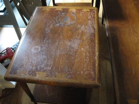 how to refinish veneer table veneer table refinish craft