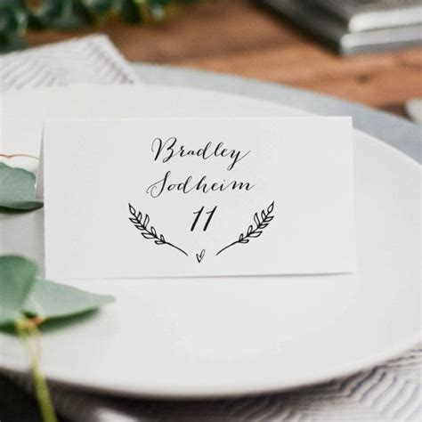 wedding table place cards best 25 place card template ideas on free