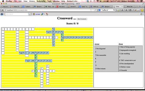 tutorial php javascript php javascript crossword game tutorial robert metcalfe blog