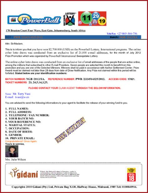 Divorce Letter Wins Lotto Lottery Email Scam You Won A Large Amount Of Money Really Omniquad Security