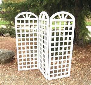 Wooden Trellis Panels Garden Trellis Three Panel Trellis Ds 7406