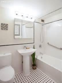 Basketweave Tile Backsplash - white subway tile bathroom with black trim modern classic bathroom round up tsc