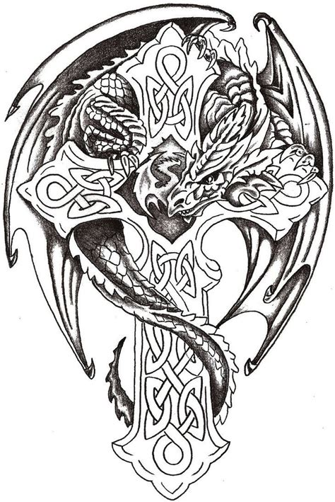 celtic dragon tattoo lord celtic by thelob on deviantart celtic