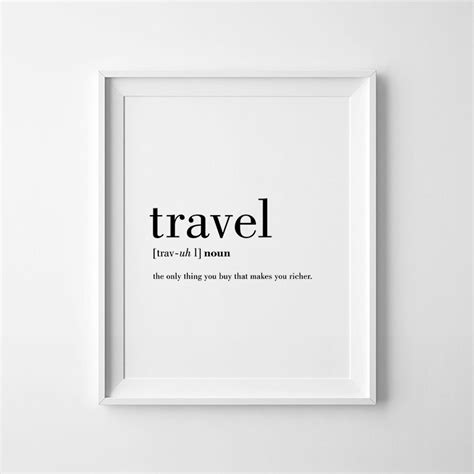 free printable wall art travel travel definition printable travel quote word poster travel