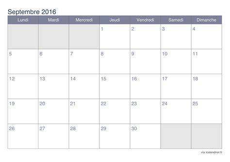 Calendrier Septembre 2016 Aout 2017 Calendrier Septembre 2016 224 Imprimer Icalendrier Fr