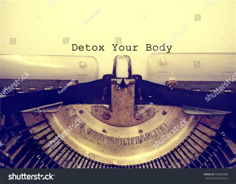 Word Ending With Detox by Detox Your Typed Words On Stock Photo 595862486