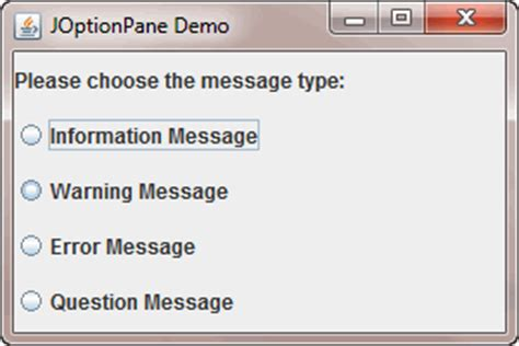 java swing joptionpane how to use joptionpane to create dialogs
