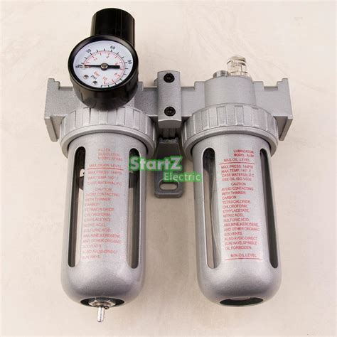 3 8 air compressor lubricator moisture water trap filter regulator with mount in pneumatic
