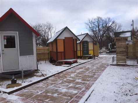 tiny house community tiny house community for homeless finishes 3rd tiny home