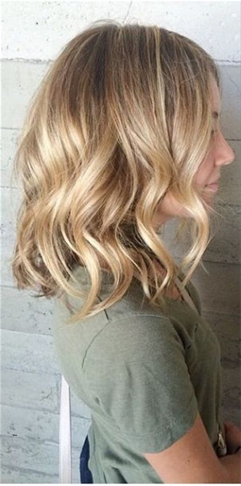balavage haircolor for medium length blonde hair blonde balayage medium length hair pinterest bobs