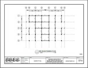 Beam Plans mid beam framing plan