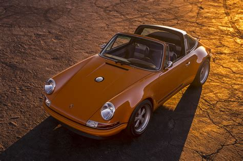 orange porsche targa singer s orange luxemburg targa is perfect singer