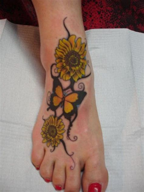 sunflower tattoo designs on foot best 25 sunflower foot tattoos ideas on spine