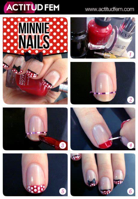 tutorial nail art minnie tutorial manicure de minnie actitudfem