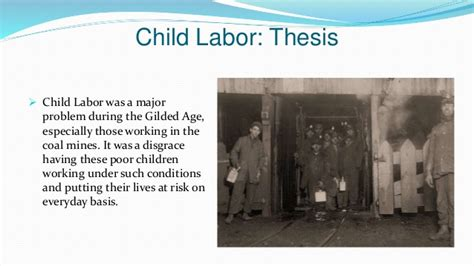 dissertation on child labour thesis about working conditions ghostwriternickelodeon