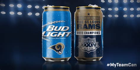 bud light superbowl cans past bowl chs highlighted on bud light cans