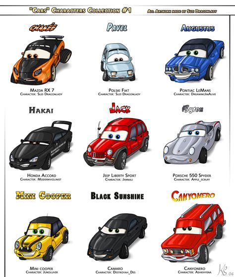 cars characters cars characters collection 1 by suzidragonlady on deviantart