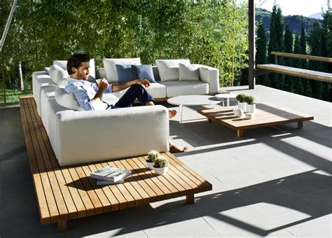 tribu vis a vis garden coffee table tribu outdoor furniture at go modern