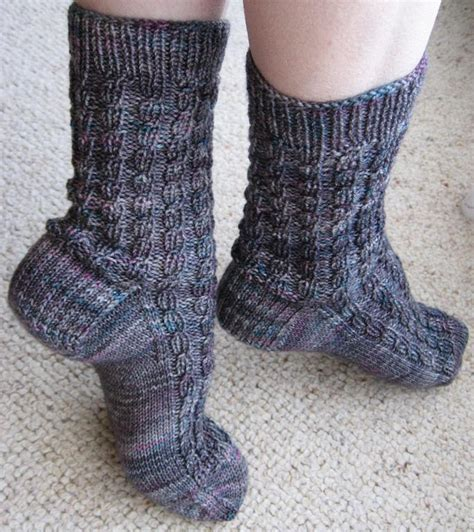 pattern socks knitting ribbed faux cable socks by kbj designs craftsy