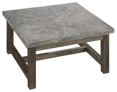 houzz square coffee table concrete chic square coffee table contemporary coffee