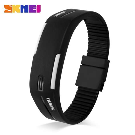 Baru Jam Tangan Digital Dskmei Silicon Wristband Led 0951 skmei wristband jam gelang led 1099a black