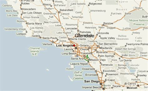 california map glendale glendale california location guide