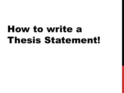 How To Write A Thesis Essay by How To Write A Thesis Statement