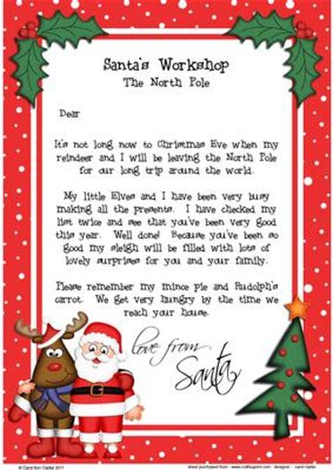 free printable letter from santa australia christmas santa rudolph a4 child s letter from santa